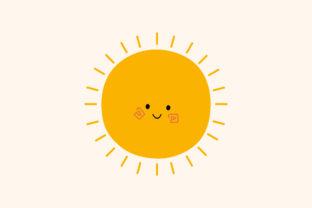 Print on Demand: Cute Sun Hand Drawn Element Graphic Illustrations By Musbila
