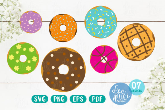 Print on Demand: Donuts Set No.02 Graphic Illustrations By decnui.creator