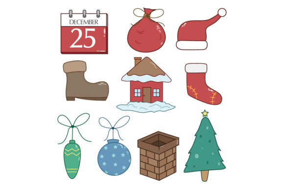 Doodle Christmas Collection Graphic Illustrations By PadmaSanjaya
