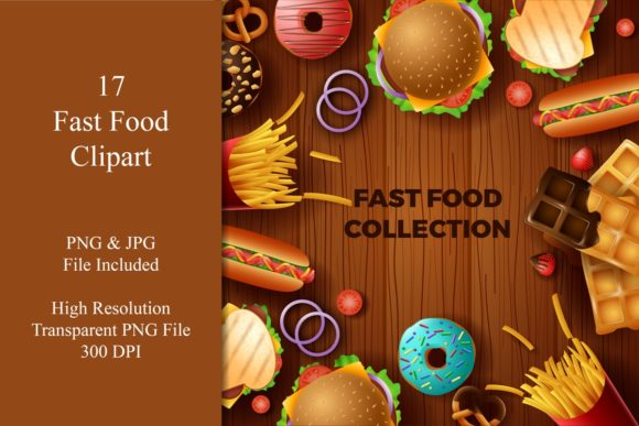Fast Food & Dessert Bundle Graphic Illustrations By creation