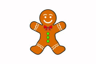 Gingerbread Man Christmas Icon Graphic Icons By yellowhellow