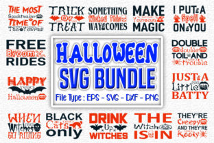 Print on Demand: Halloweeen   Quotes Designs Bundle Graphic Print Templates By svg_hut