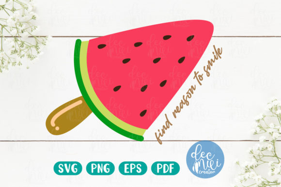 Print on Demand: Ice Cream Watermelon Graphic Illustrations By decnui.creator