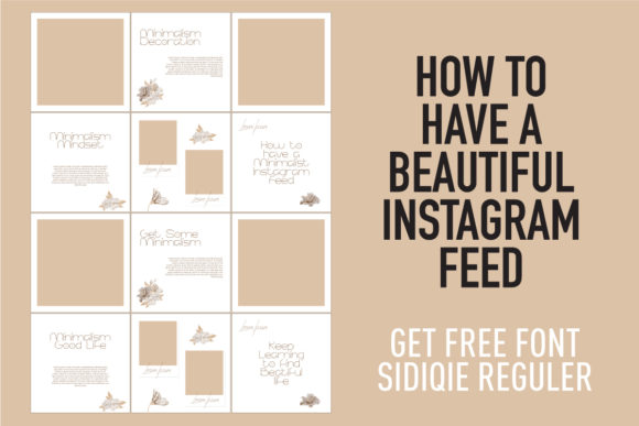 Print on Demand: Instagram Template & Free Sidiqie R Font Graphic Graphic Templates By Chococreator