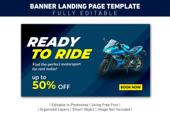 Landing Page Ready to Ride Graphic Web Templates By ant project template