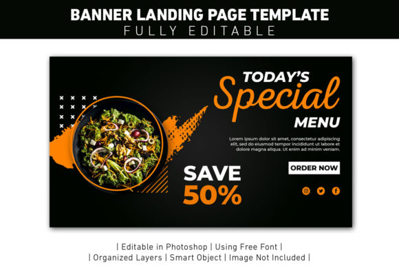 Landing Page Special Menu Graphic Web Templates By ant project template