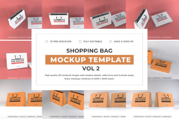 Print on Demand: Shopping Bag Mockup Bundle Vol 2 Graphic Product Mockups By dendysign
