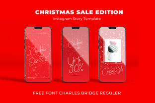 Print on Demand: Template Christmas & FREE FONT CHARLES Graphic Graphic Templates By Chococreator