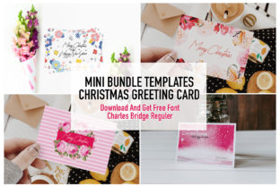 Print on Demand: Templates Christmas Card & Get Free Font Graphic Print Templates By Chococreator