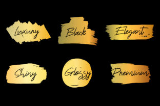 Print on Demand: Vector Brush Paint Boxes Gold Color Set Graphic Illustrations By Musbila