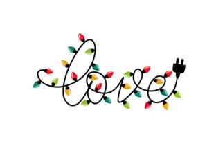 Christmas Lights 'love' Christmas Craft Cut File By Creative Fabrica Crafts