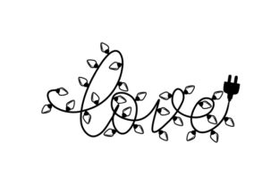 Christmas Lights 'love' Christmas Craft Cut File By Creative Fabrica Crafts 2