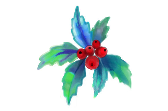Christmas Holly Christmas Craft Cut File By Creative Fabrica Crafts