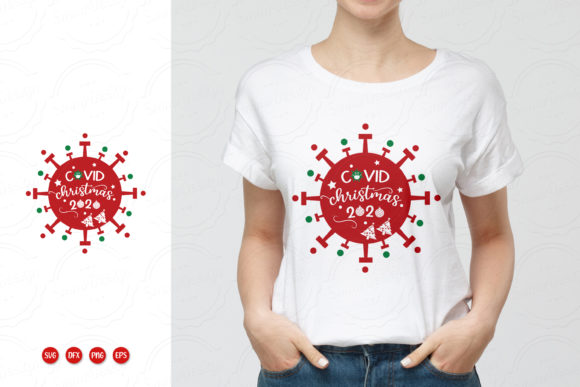 Print on Demand: Covid Christmas SVG,PNG,DFX,EPS Graphic Crafts By SmmrDesign