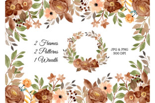 Print on Demand: Digital Clipart Floral Watercolor Part.6 Graphic Illustrations By asrulaqroni