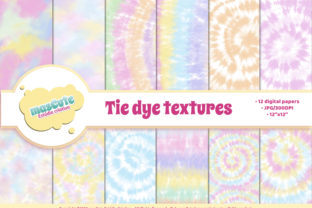 Print on Demand: Digital Paper Pack - Tie Dye Graphic Textures By mascute.arte