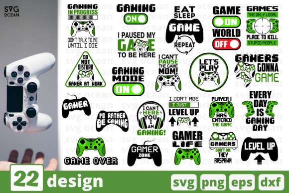Gaming SVG Bundle Graphic Crafts By SvgOcean