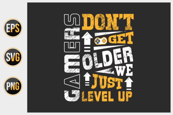 Print on Demand: Gaming Typographic Slogan Design Vector. Graphic Print Templates By ajgortee
