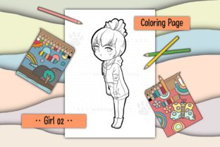 Print on Demand: Girl 02 Graphic Coloring Pages & Books Kids By 18CC