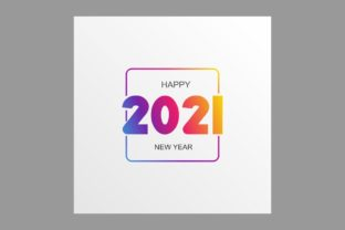 Print on Demand: Happy 2021 New Year Graphic Backgrounds By Pidco.art