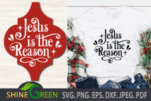 Print on Demand: Jesus Christmas Ornament Arabesque Quote Graphic Crafts By ShineGreenArt