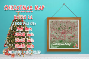 Print on Demand: Johannesburg - South Africa Christmas Graphic Photos By tienstencil