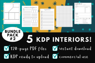 Print on Demand: KDP Interior Pack #2 - 5 Templates Graphic KDP Interiors By Dragonflow Designs