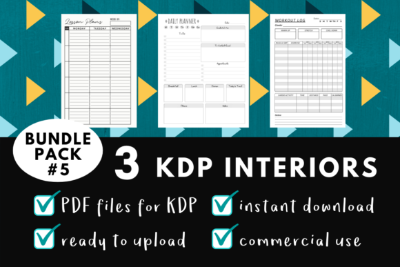 Print on Demand: KDP Interior Pack #5 - 3 Templates! Graphic KDP Interiors By mothmos