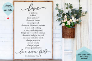 Print on Demand: Love is Patient Love is Kind Wedding Graphic Crafts By Lettershapes