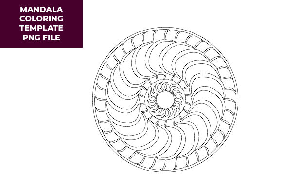Mandala Coloring Template Graphic Coloring Pages & Books Adults By Craftera