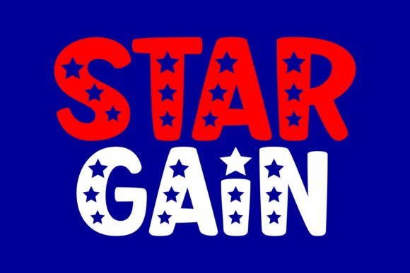 Print on Demand: Star Gain Display Font By The Traveling Fox