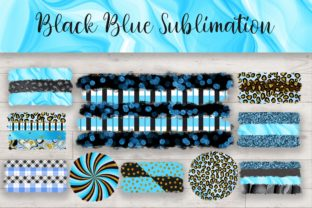 Sublimation Black Blue Background Graphic Backgrounds By PinkPearly
