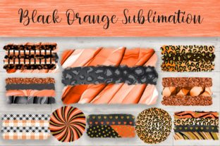 Print on Demand: Sublimation Black Orange Background Graphic Backgrounds By PinkPearly