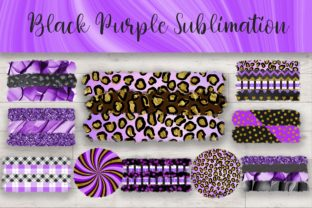 Print on Demand: Sublimation Black Purple Background Graphic Backgrounds By PinkPearly
