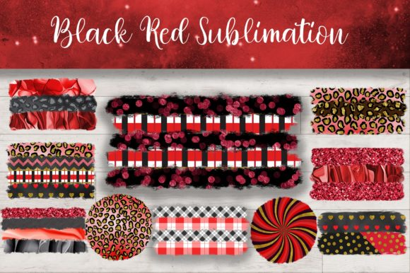 Sublimation Black Red Background Graphic Backgrounds By PinkPearly