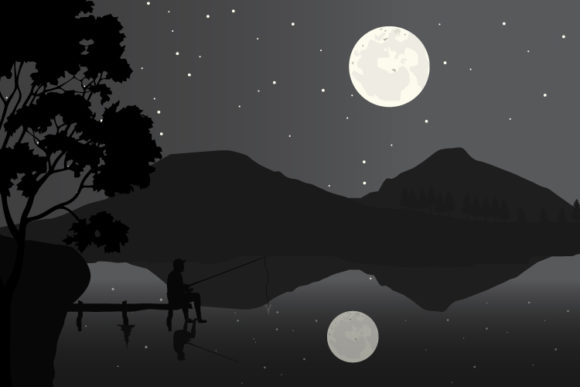 Print on Demand: Fishing Silhouette Graphic Illustrations By curutdesign