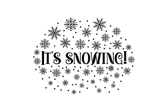 It's Snowing! Christmas Craft Cut File By Creative Fabrica Crafts