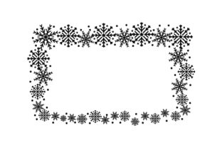Snowflake Border Christmas Craft Cut File By Creative Fabrica Crafts