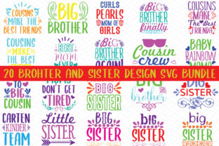 Print on Demand: 20 Brother and Sister Design Bundle Graphic Crafts By BDB_Graphics