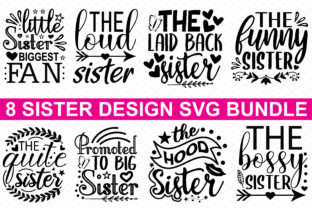 Print on Demand: 8 Sister Design Bundle Graphic Crafts By BDB_Graphics