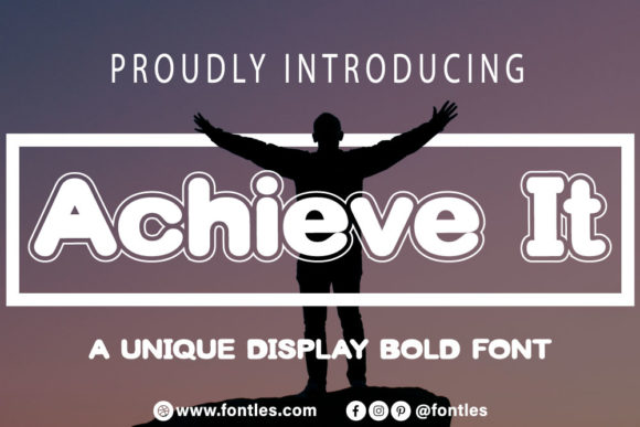 Print on Demand: Achieve It Display Font By Crafty Files