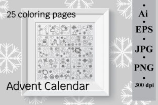 Advent Calendar Coloring Page Graphic Coloring Pages & Books Kids By SunnyColoring