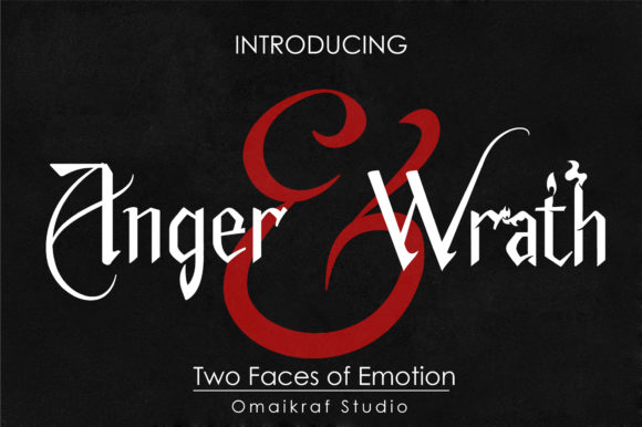 Print on Demand: Anger and Wrath Display Font By omaikraf