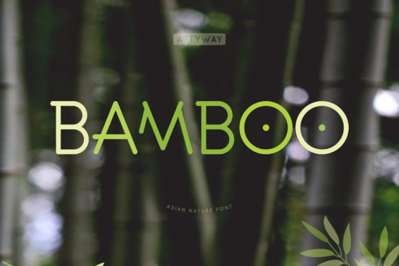 Print on Demand: Bamboo Display Font By artyway