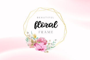 Print on Demand: Beautiful Watercolor Floral Frame Graphic Graphic Templates By Dzyneestudio