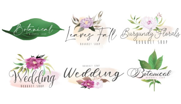 Botanical Floral and Feminine Logos Graphic Logos By Dzynee