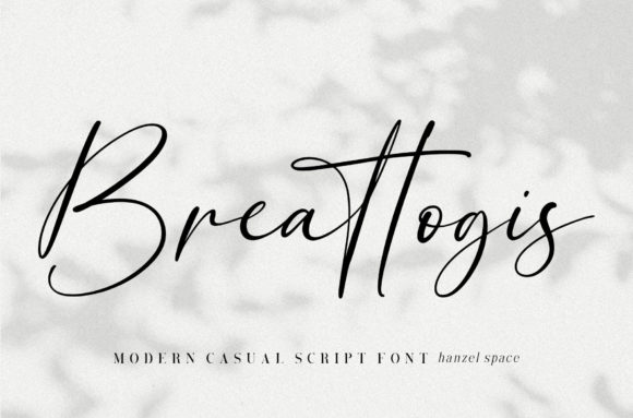 Print on Demand: Breattogis Script & Handwritten Font By Hanzel Studio