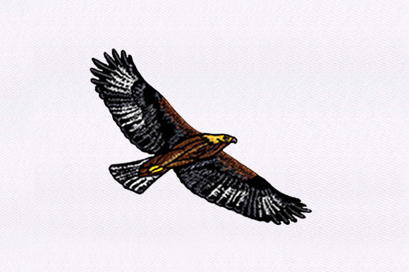 Brown Eagle Birds Embroidery Design By DigitEMB
