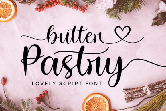 Print on Demand: Butter Pastry Script & Handwritten Font By Typesthetic Studio