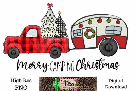 Print on Demand: Camping Christmas Dye Sublimation PNG Graphic Illustrations By Crazy Heifer Design Shoppe